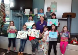 art club with paintings