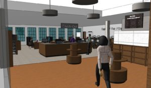 3d rendering of remodeled library