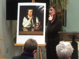 Kathleen Riley teaches an Art History Class
