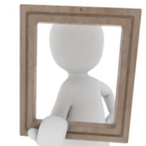 person holding picture frame