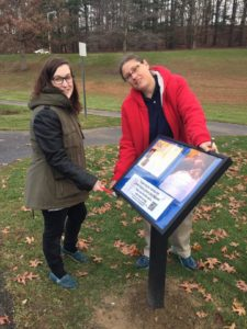 Syrena and Dani at the Story Walk