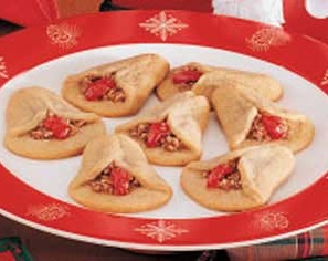 plate of bell cookies